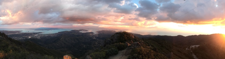 View at Sunset, at the top of Mt. Tamalpias